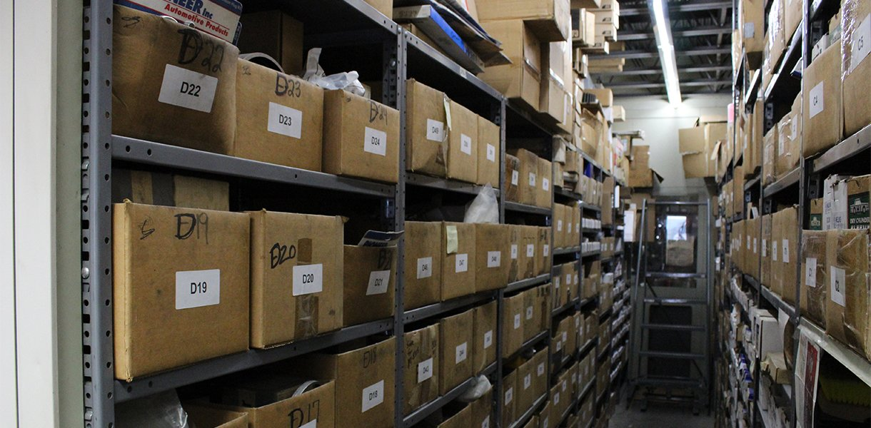 The Rutt's Machine, Inc. fully stocked machine parts department