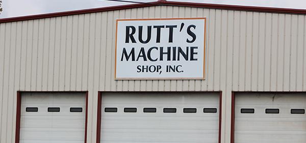 The Rutt's Machine Shop, Inc. sign