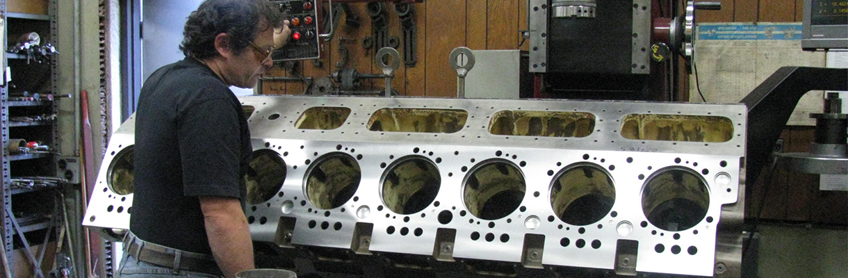 A Cylinder Block Undergoing Inspection and Repair